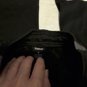 Reebok black blue track jogger pants size S